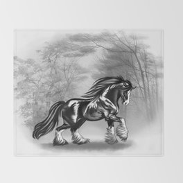 Black Shire Throw Blanket