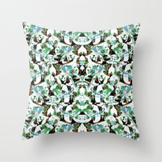 Aztec Floral Pattern Throw Pillow