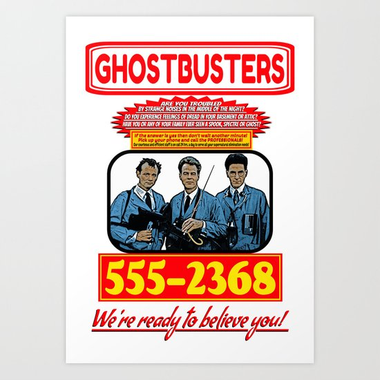 Ghostbusters Advertisement Art Print