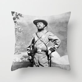 Colonel John Mosby - Civil War Portrait Throw Pillow