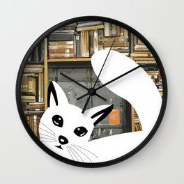 Curios cat I Wall Clock