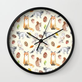 Woodland Critters Wall Clock