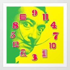 Salvador Dali Dial Clock Face Pop Art Art Print