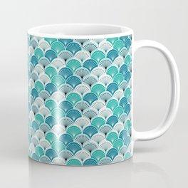Fish Scales-blue Coffee Mug