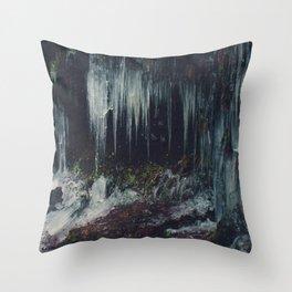 Ice Spikes Throw Pillow