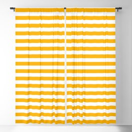 Striped 18 Yellow Blackout Curtain