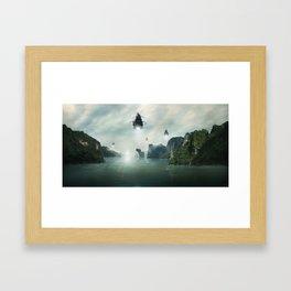 Alien Invasion Framed Art Print