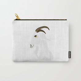 White goat head Carry-All Pouch