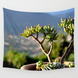 suculent at sunset Wall Tapestry