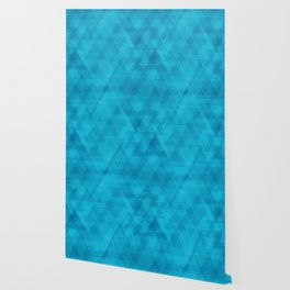 Gentle light blue triangles in the intersection and overlay. Wallpaper