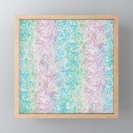 Sponge Paint Stripes Framed Mini Art Print