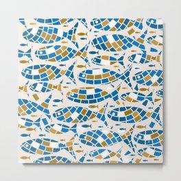 Mosaic Fishes Metal Print