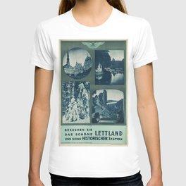 Vintage poster - Lettland T-shirt