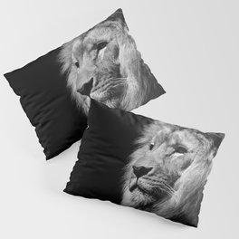 Lion Black and white Pillow Sham