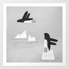 is that penguin flying? Art Print