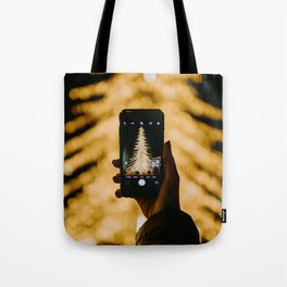The Golden Christmas Tree (Color) Tote Bag