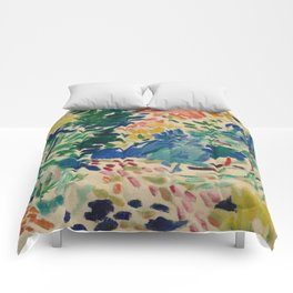 Landscape at Collioure - Henri Matisse - Exhibition Poster Comforters