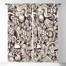 casino doodle Blackout Curtain