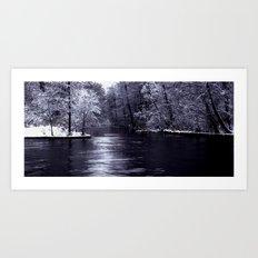 Winter end Art Print