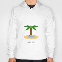 palm tree Hoodies featuring Palm Tree by Veronica Grande