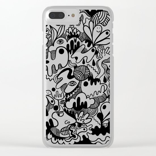Weirdo doodle Clear iPhone Case