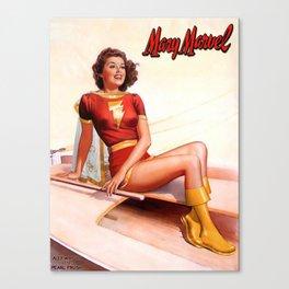 Superheroine Pin-Up 01 Canvas Print