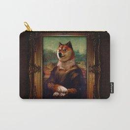 Doge Mona Lisa Fine Art Shibe Meme Painting Carry-All Pouch