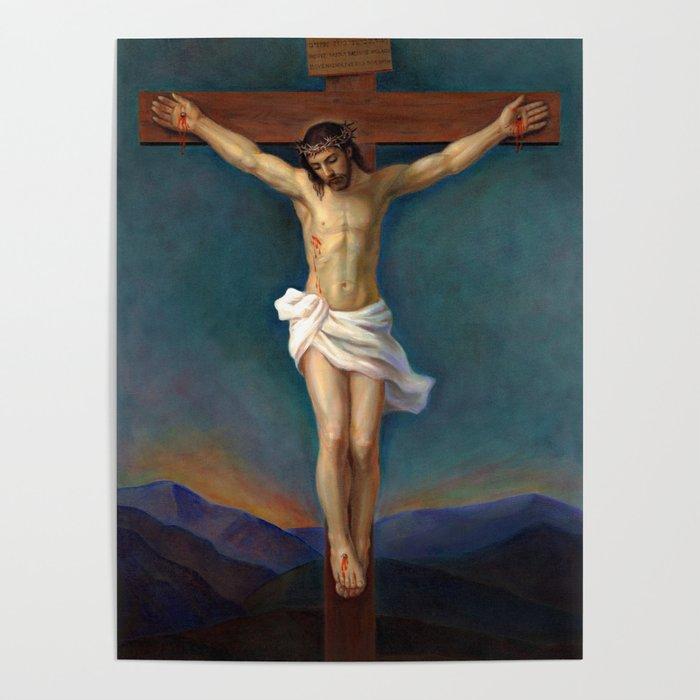 Jesus Christ On The Cross - Crucifixion Poster by svitozarnenyuk