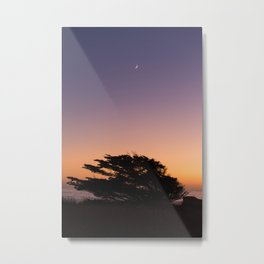 Fort Bragg, CA Moonset After Sunset Metal Print