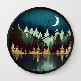 Star Forest Reflection Wall Clock