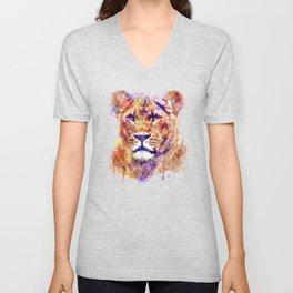 Lioness Head Unisex V-Neck