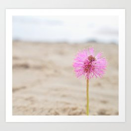 by the beach Art Print