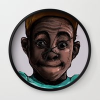 tyler the creator Wall Clocks featuring Tyler The Creator by ASHUR Collective™