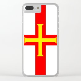 Flag of The Channel Island Of Guerseney Clear iPhone Case