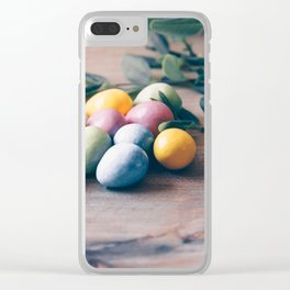 Easter Eggs 13 Clear iPhone Case