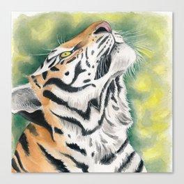 Bengal Tiger Jungle Ink Watercolor Canvas Print