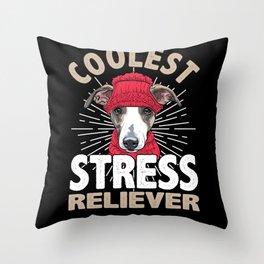 Greyhound, Greyhound whippet, Greyhound  saluki Throw Pillow