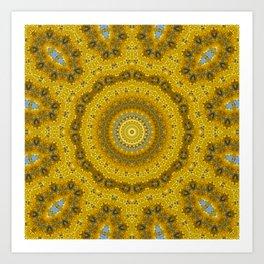 Gelbe Forsithien in Gross Art Print