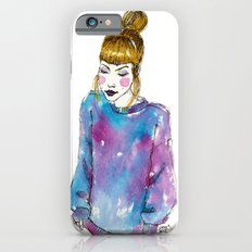 Fashion Illustration - Girl with a Sweater iPhone 6s Slim Case