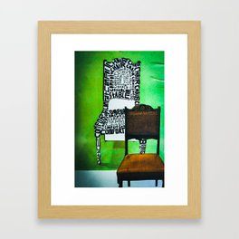 Too many chairs. Framed Art Print