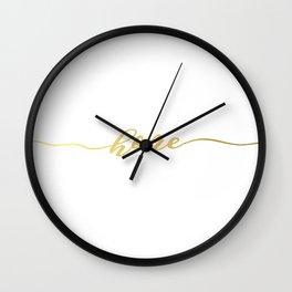 golden home Wall Clock