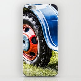 wheel of old tractor iPhone Skin