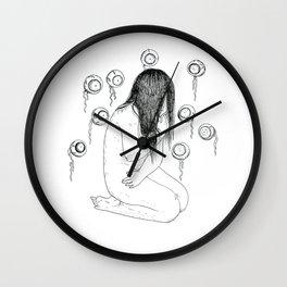 Nightmare nudity Wall Clock