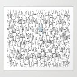 Outstanding Rabbit Art Print