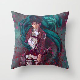 Attack On Titan Fanart - Levi Ackerman (Version 2/5) Throw Pillow
