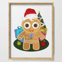 Christmas - Ginger Bread Man Serving Tray