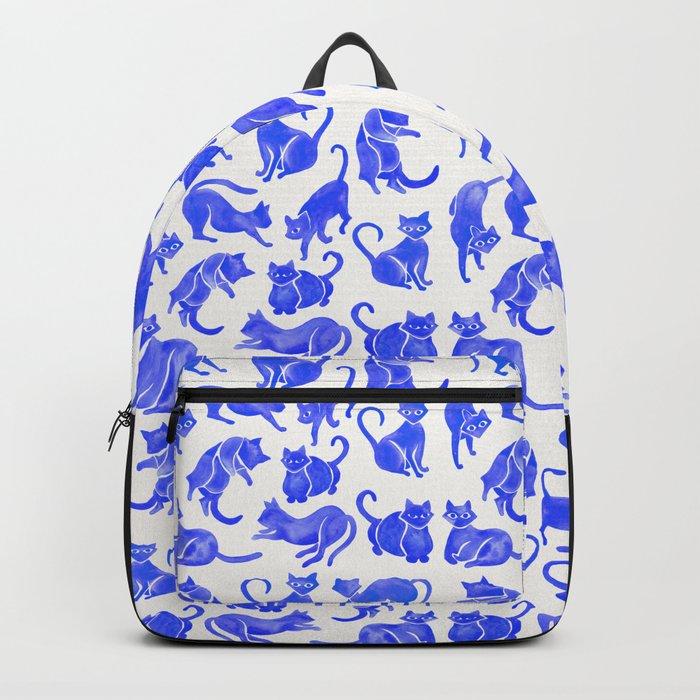 Cat Positions – Blue Palette Backpack