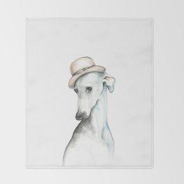 Bowler hat greyhound_ Illustrious dogs. Throw Blanket