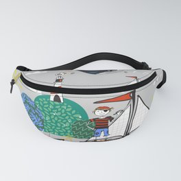 Pirates Ahoy Grey Fanny Pack