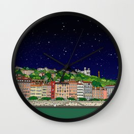 Lyon Full of Stars Wall Clock